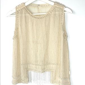 Blouse Embroidered with Pearls New